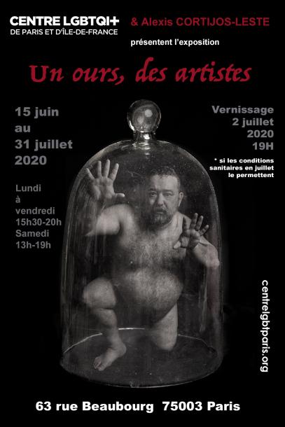 Un ours, des artistes... Exposition au Centre LGBTQI+