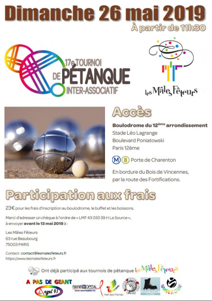 17ème Tournoi Inter Associatif de Pétanque et son Barbecue