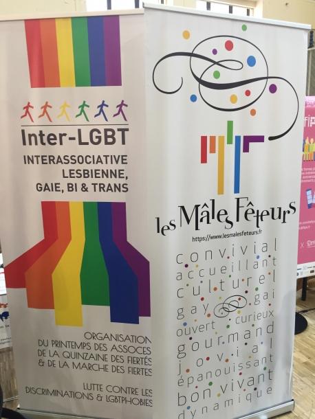 18ème Printemps des Assoces kakémono Les Mâles Fêteurs et Inter-LGBT