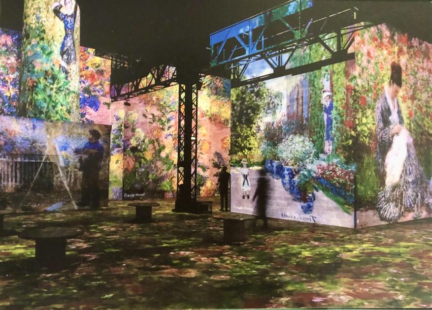 Atelier des Lumières - Monet, Renoir... Chagall.  Voyages en Méditerranée